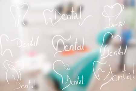 dental surgery: Abstract dental illustration of a teeth dental surgery background