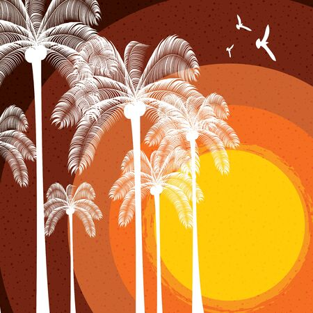 Colorful summer beach template bright color Illustration