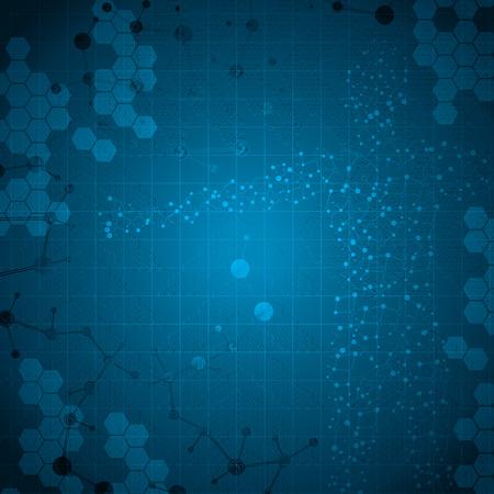 Molecule man human body abstract vector illustration