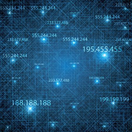 ip address: Abstract vector futuristic blue background illustration Illustration