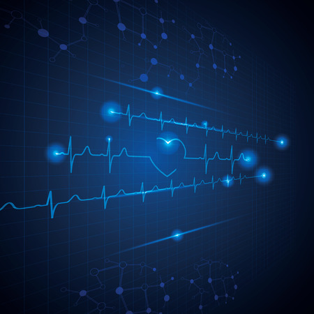 medical illustration: Abstract medical cardiology ekg background