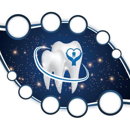 blue design: Dental illustration brochure blue design Illustration