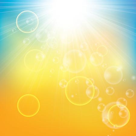 rayos de sol: Soleado fondo de rayos sol abstracto