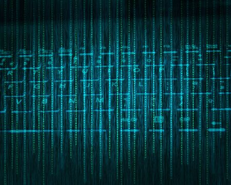 Abstract tech binary blue keyboard background Stock Photo