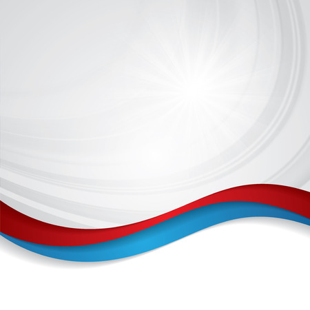 Abstract design bright background red blue Stock Illustratie