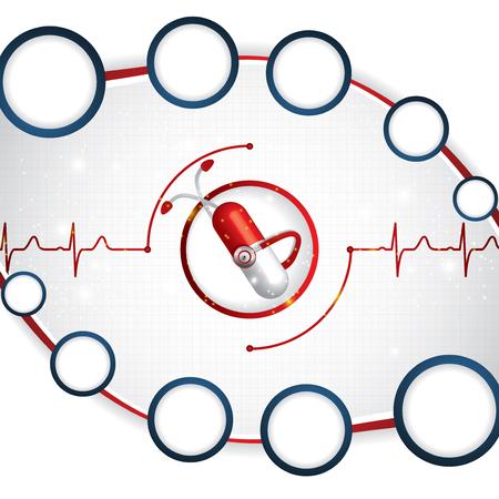 electrocardiograma: Cardiología médica Fondo abstracto ekg