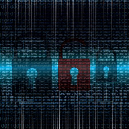 Abstract tech binary security blue background Stock Photo
