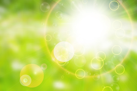 Sunny abstract sun ray background green Ilustrace