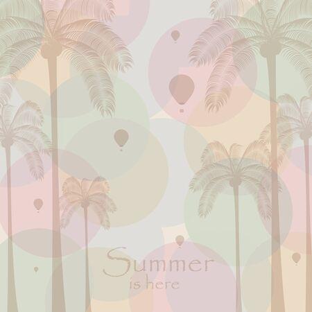 Colorful summer retro beach template Vector