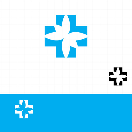 pharmacy sign: Abstract medical blue pharmacy sign symbol Illustration