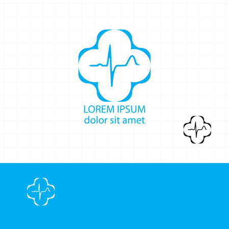 Abstract medical blue pharmacy sign symbol Vector