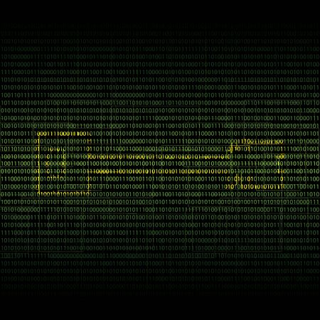 nole: Abstract tech binary security green background Illustration