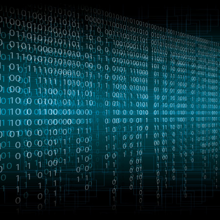 Abstract tech blur blurry binary blue background