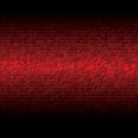 number code: Abstract tech binary red background