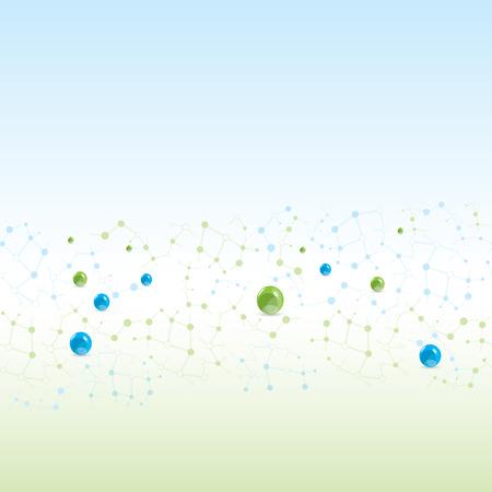 molécule Seamless ligh couleurs de fond