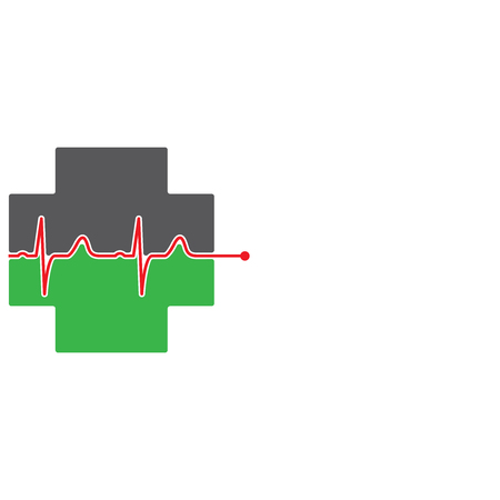 medical sign: Abstract medical green pharmacy sign symbol Illustration