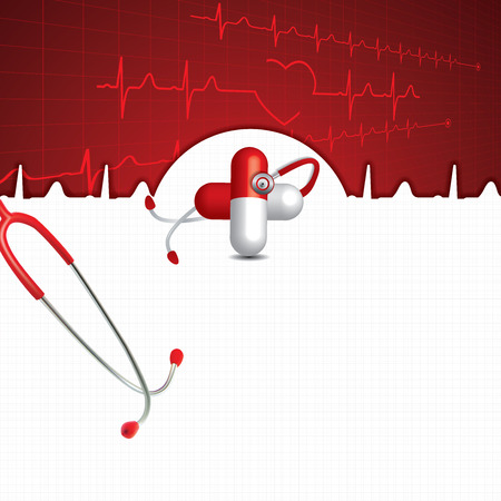 medical abstract: Abstract medical cardiology ekg background