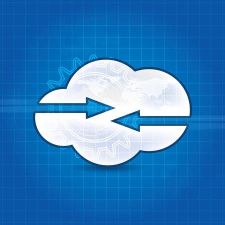 synchronizing: Cloud technology concept design abstract background