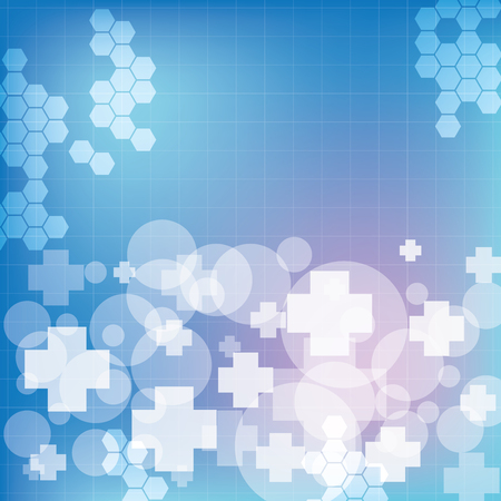 Abstract medical blue light colors background