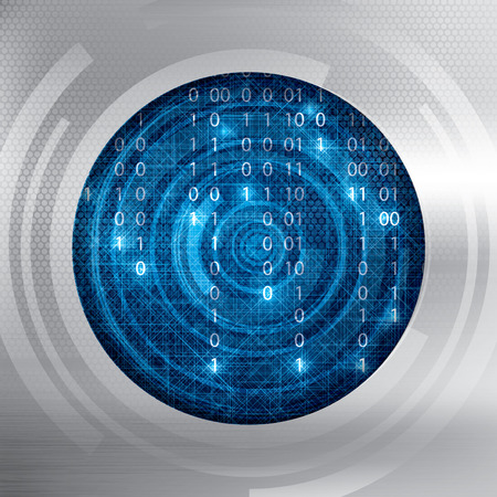 frid: Abstract tech binary security blue background Illustration