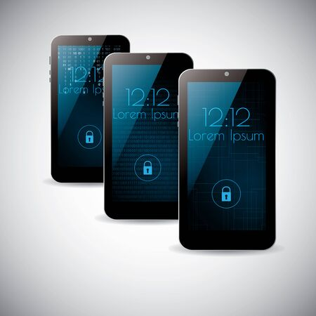 themes: Smartphone interface background themes design