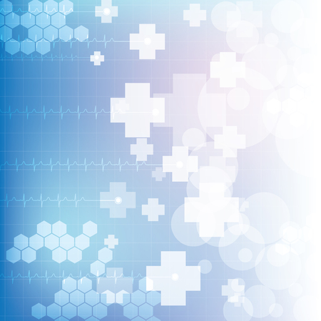 medical cross symbol: Abstract medical blue light colors background