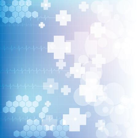 Résumé médical bleu couleurs claires fond Illustration