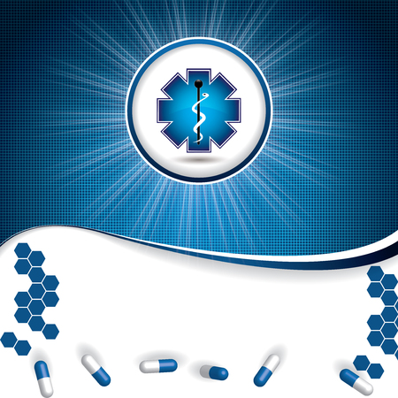 stamina: Abstract blue grid medical background