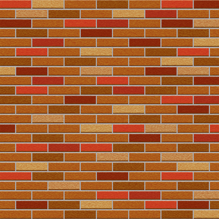 pared rota: pared de ladrillo sucio del fondo de color marrón Vectores