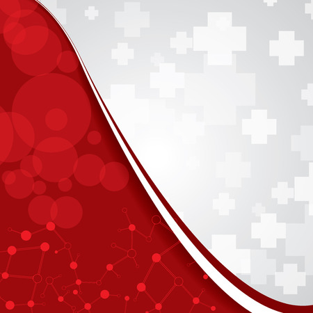 Abstract medical red light colors background