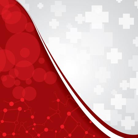 Résumé médicale rouge couleurs claires fond
