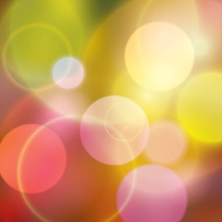 warm colors: Colorful bokeh multi colored background with warm colors