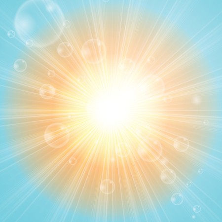sunshine: Sunny abstract sun ray background