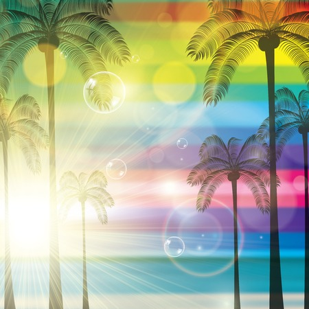 summer holiday: Summer tropical holiday colorful background