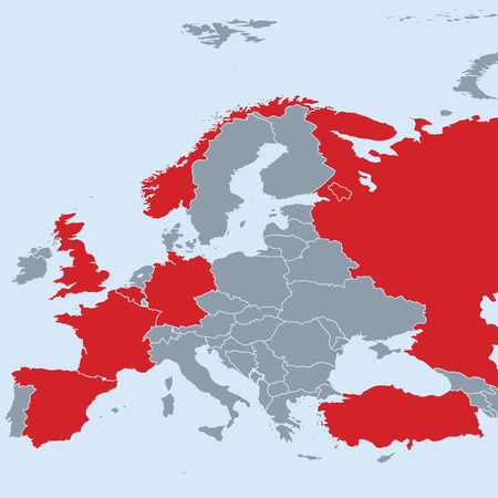 victim war: Previous terrorist attacks in Europe with map