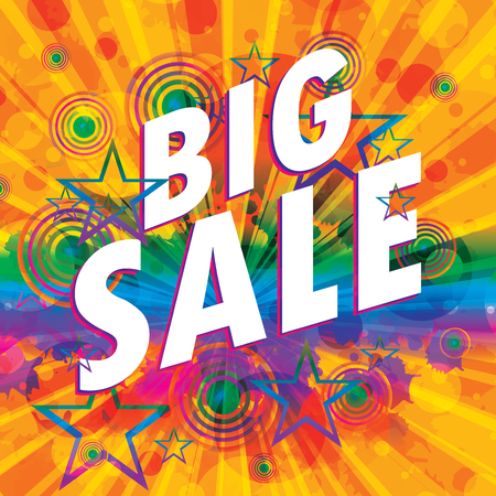 auction off: Big sale design vector illustration