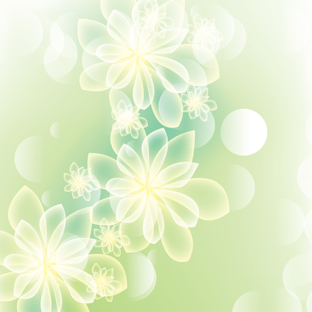 spring summer: Green summer spring background with flowers