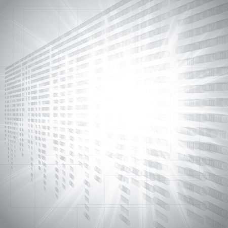 nole: Abstract tech binary silver background