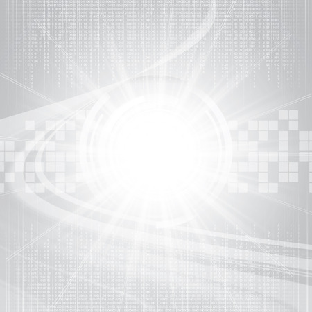 frid: Abstract tech binary silver background