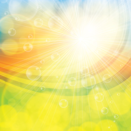 Sunny spring summer abstract background