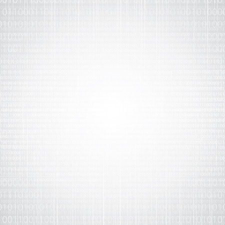 frid: Abstract tech binary silver white texture background Illustration