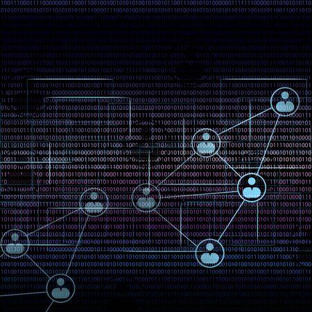 team communication: Team communication concept vector matrix background