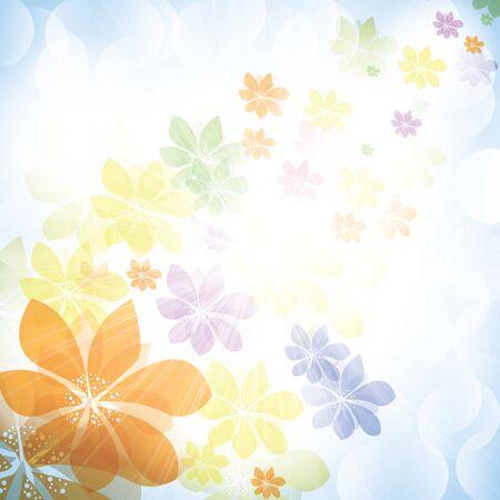 diversion: Fondo de primavera verano de colores con flores Vectores