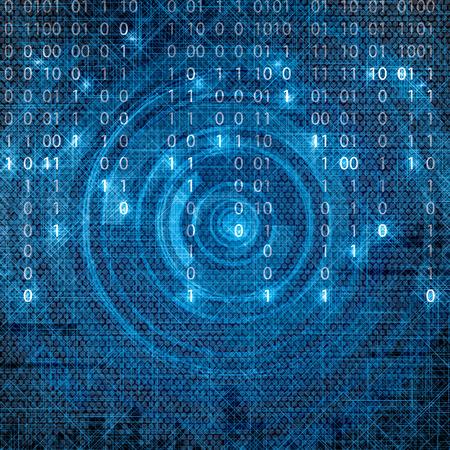 frid: Abstract tech binary blue matrix background