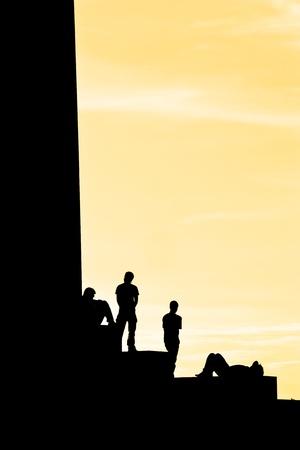 backlighting: backlighting profile in sunset