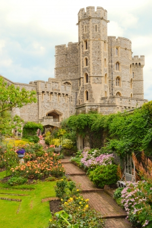 english famous: The garden and part of castle of windsor