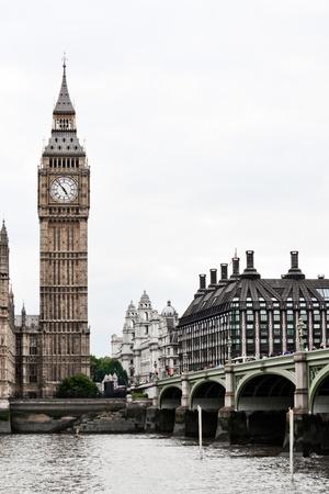 Big ben and Westminster Bridge at Thames