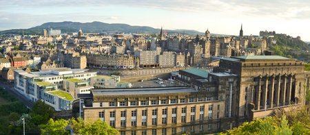Panoramic View of Edinburgh in the sunset. Stock Photo - 11266742