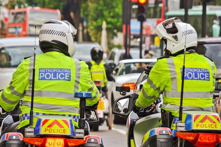 british man: London Police In Motorcycle