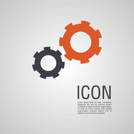 Vector icons in the form of gears. Pin symbol for your web site design. Illustration